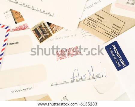 letters from around the world, perfect to illustrate reader mail or fan mail - stock photo