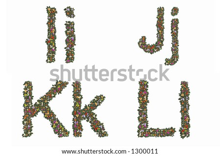 Letters i, j, k and l. Mix and Match to make your own words. - stock photo