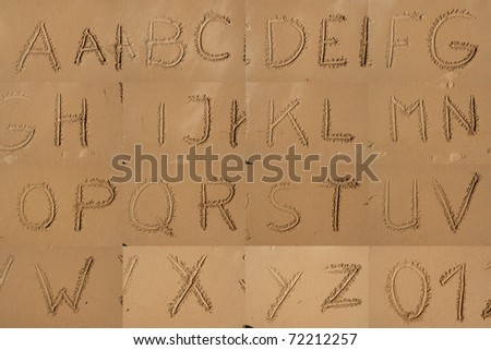 Letters in Sand - stock photo