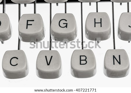 letters of a typewriter - stock photo