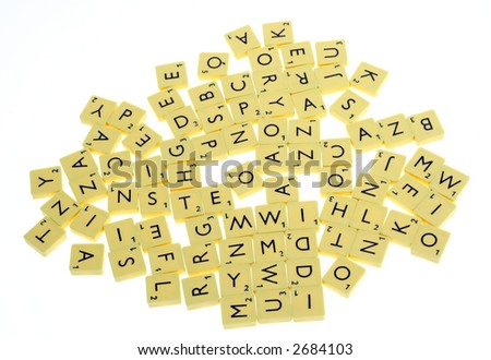 Letters on a white background