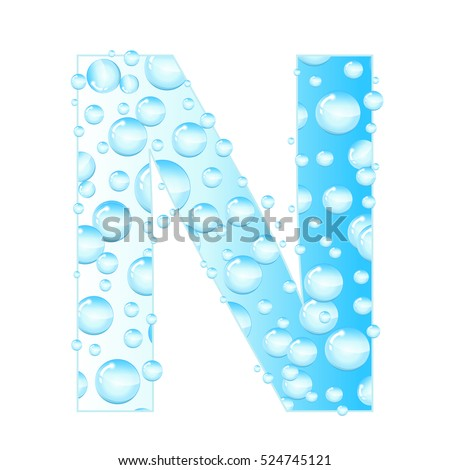 Letters Soap Bubbles Water Droplets Letter From The Aqua
