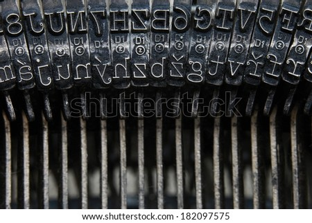 letters typewriter - detail - stock photo