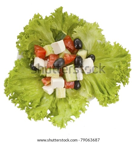 lettuce and salad - stock photo