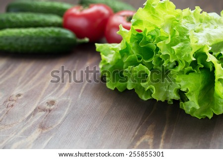 Lettuce and vegetables - stock photo