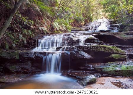 Leura Falls, Blue Mountains, Australia.  - stock photo