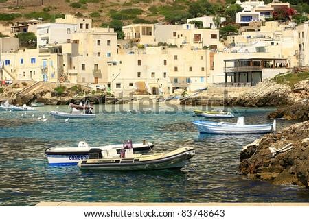 levanzo egadi Islands Sicily Italy - stock photo