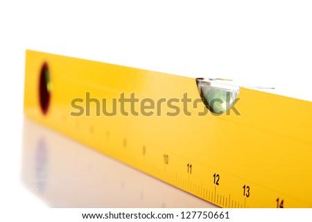 Level close up, isolated on white - stock photo