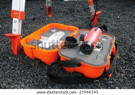 Level for Topography use - stock photo