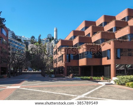 Levi Strauss Plaza is an office complex located in Embarcadero in San Francisco, California. - stock photo