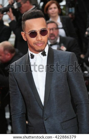 Lewis Hamilton attends 'The Unknown Girl (La Fille Inconnue)' Premiere duirng the annual 69th Cannes Film Festival at Palais des Festivals on May 18, 2016 in Cannes, France.