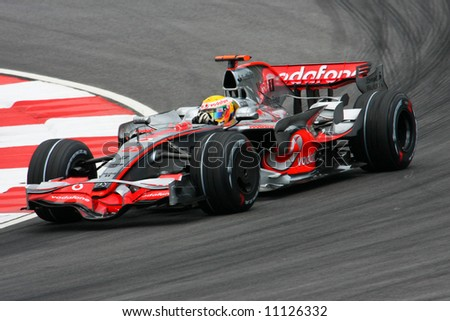 Lewis Hamilton, England of Vodafone McLaren Mercedes F1 team 2008 - stock photo