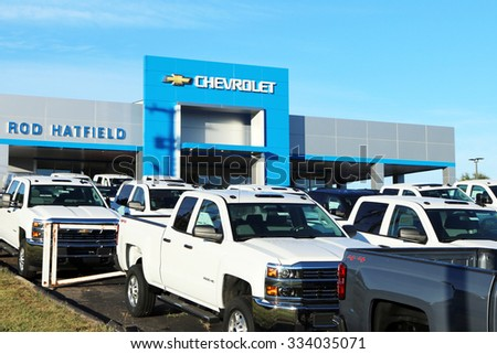 ky october 2015 chevrolet dealership with a full lot of chevy pickup. Cars Review. Best American Auto & Cars Review