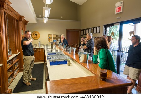 LEXINGTON, KY - SEPT. 14, 2014: Visitor center of  Alltech Lexington Brewing and Distilling Company in Lexington, KY, USA  founded in 1999 by Pearse Lyons. Launched in 2006 Kentucky Bourbon Barrel Ale