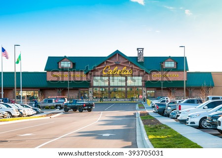 LEXINGTON, KY USA - MARCH 16, 2016.  Cabelas opens its Lexington store on March 16, 2016. Cabelas retails hunting, fishing and outdoor gear. - stock photo