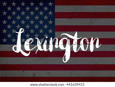 Lexington written with hand-written letters - stock photo