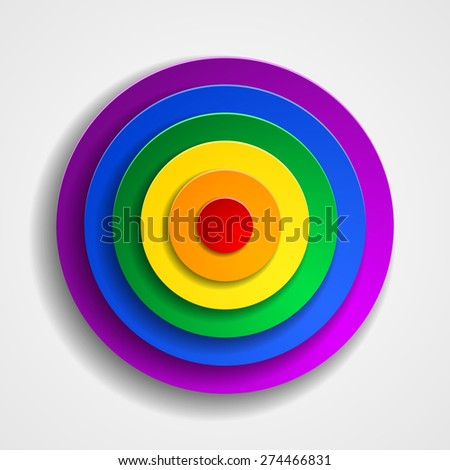 LGBT colors target button - stock photo