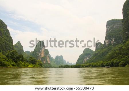 Li river view - stock photo