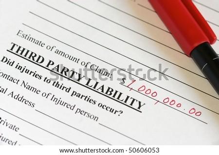 Liability claim form for a million dollars! - stock photo