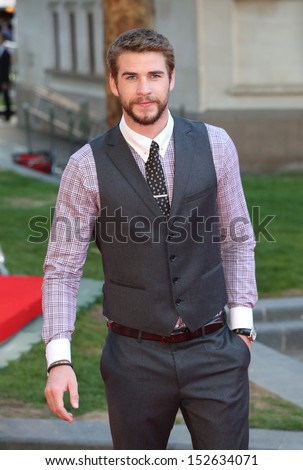 "Liam Hemsworth arriving for the ""Rush"" World premiere at the Odeon Leicester Square, London. 02/09/2013 - stock photo"