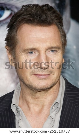 "Liam Neeson at the Los Angeles Premiere of ""The Grey"" held at the Regal Cinemas L.A. Live in Los Angeles, California, United States on January 11, 2012."