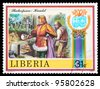 LIBERIA - CIRCA 1978: stamp printed by Liberia, shows Shakespeare's poems, circa 1978 - stock photo
