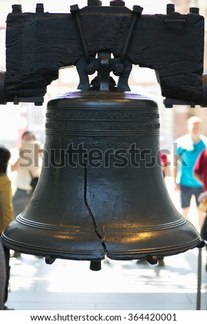 Liberty bell the symbol of american independence in Philadelphia - stock photo