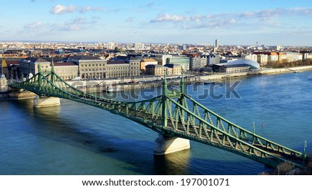 Liberty Bridge Budapest, Hungary - stock photo