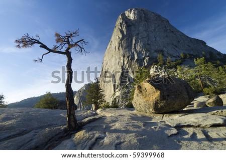 Liberty Cap in Yosemite National Park, California, United States - stock photo