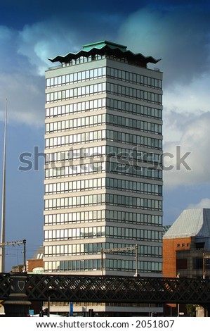 Liberty Hall, Dublin City, Ireland - stock photo