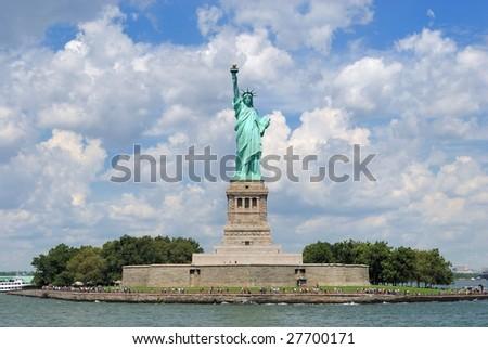 Liberty island - stock photo