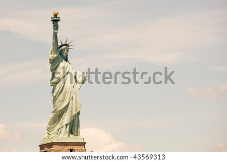 Liberty Island, Statue of Liberty - stock photo