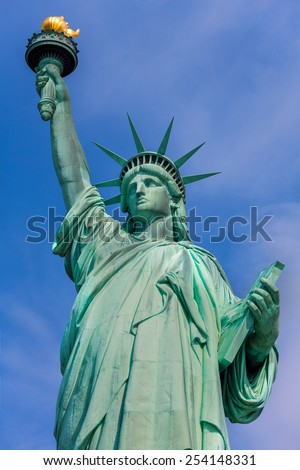Liberty Statue New York American Symbol USA US - stock photo