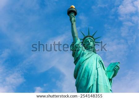 Liberty Statue New York American Symbol USA US - stock photo