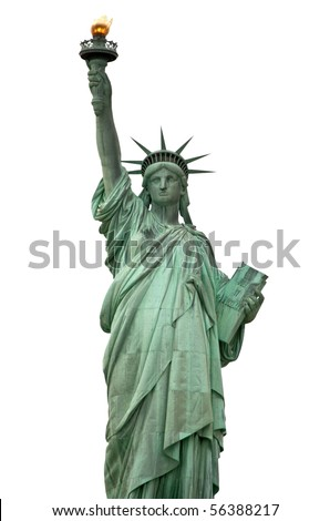 Liberty statue, New York City, USA - stock photo