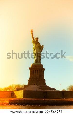 Liberty Statue, New York USA - stock photo