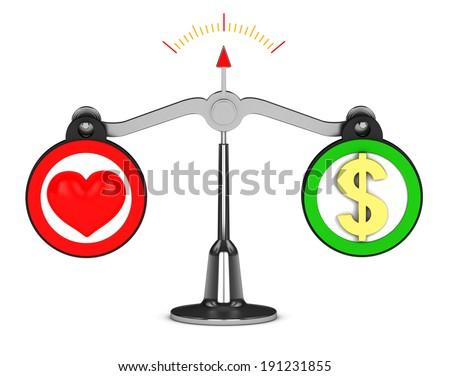 Libra Love or Money - stock photo
