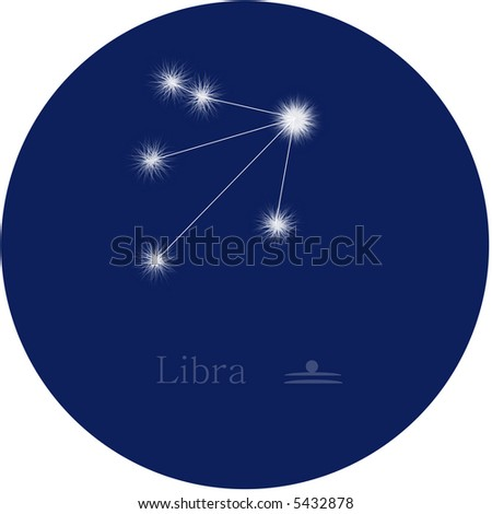 libra zodiac - stock photo