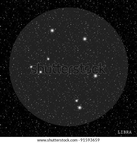 Libra Zodiac Constellation - stock photo