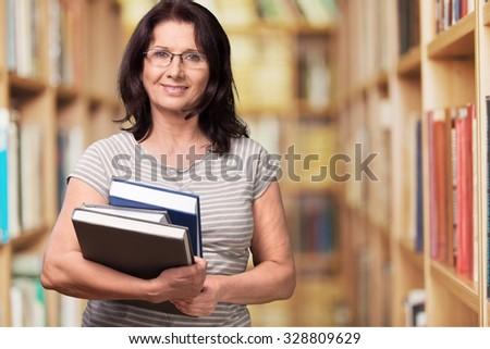 Librarian. - stock photo