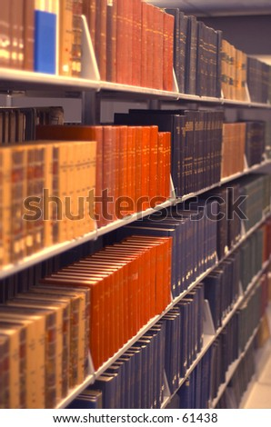 Library books - stock photo