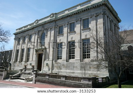 library building on Brown University campus - stock photo