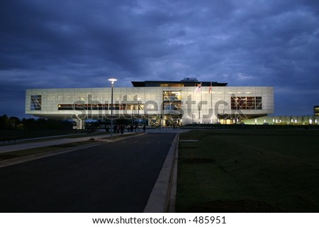 Library Exterior - stock photo