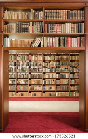 Library gateway - stock photo