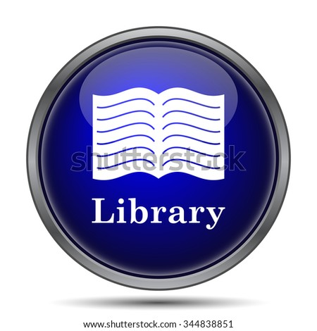 Library icon. Internet button on white background.