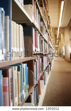 Library interior - stock photo