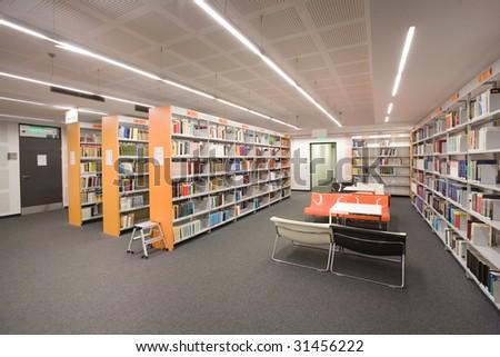 library interior - stock photo