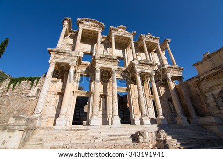 Library of Celsus in Ephesus Ancient City, Izmir, Turkey - stock photo
