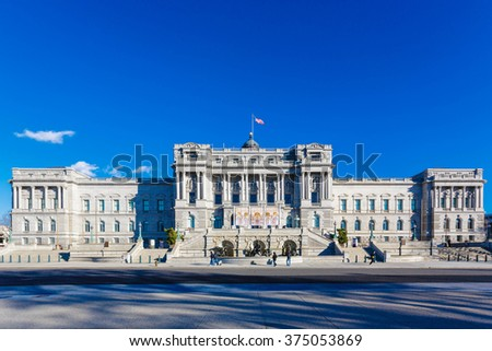 Library of Congress (Jefferson Building) - stock photo
