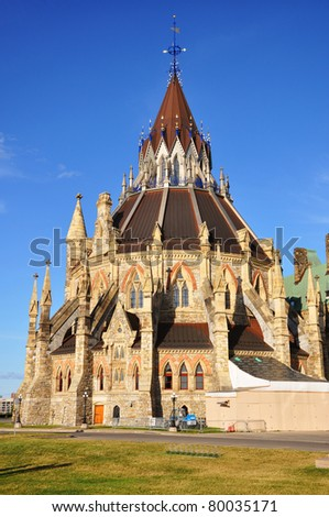 Library of Parliament, Ottawa, Ontario, Canada - stock photo
